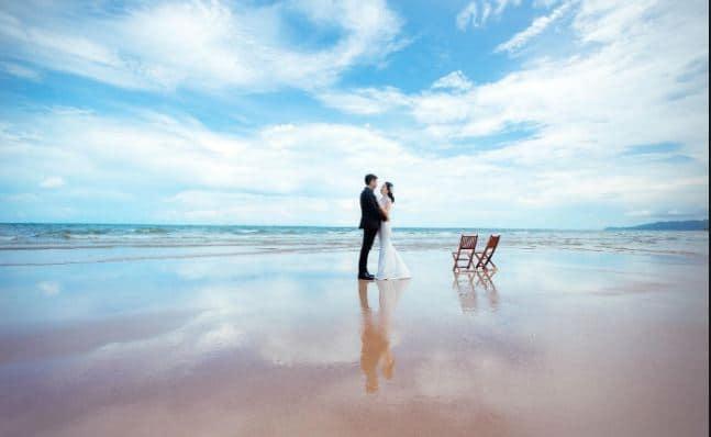 Chụp ảnh cưới bãi biển hồ Tràm Vũng Tàu