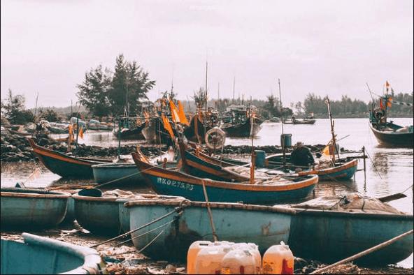Vẻ đẹp hoang sơ ở cảng Lộc An