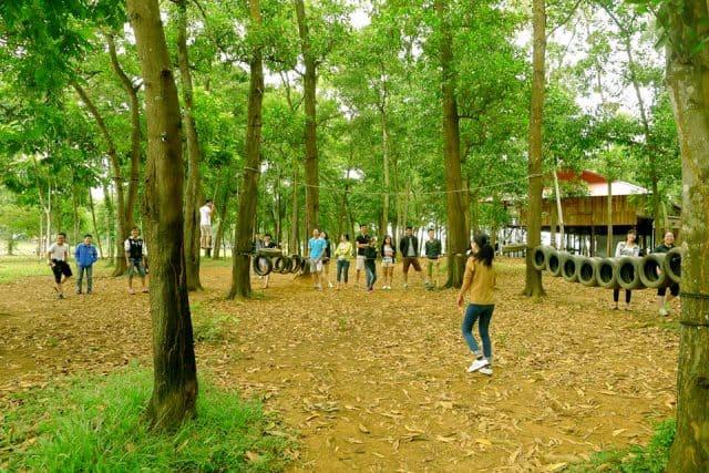 Cắm trại ở Đồng Mô (ảnh ST)