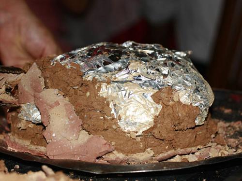 Gà đồi bọc đất - ăn gì ở Tam Đảo