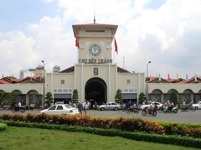 Các địa điểm du lịch nổi tiếng ở sài gòn tiêu biểu chợ Bến Thành