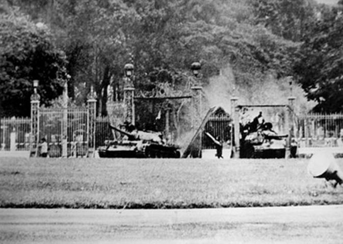 Thời kỳ chiến tranh tàn khốc tại Dinh Độc Lập thành phố Hồ Chí Minh