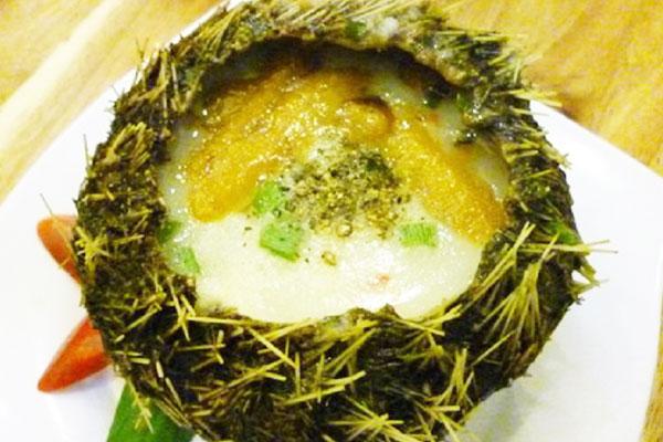 Cháo nhum biển có hương vị đặc biệt (Nguồn sưu tầm)