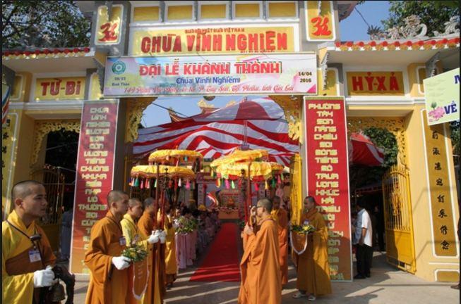 Đại lễ khánh thành Chùa Vĩnh Nghiêm ở Hồ Chí Minh