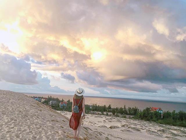 Sống ảo tại Cồn cát Quang Phú