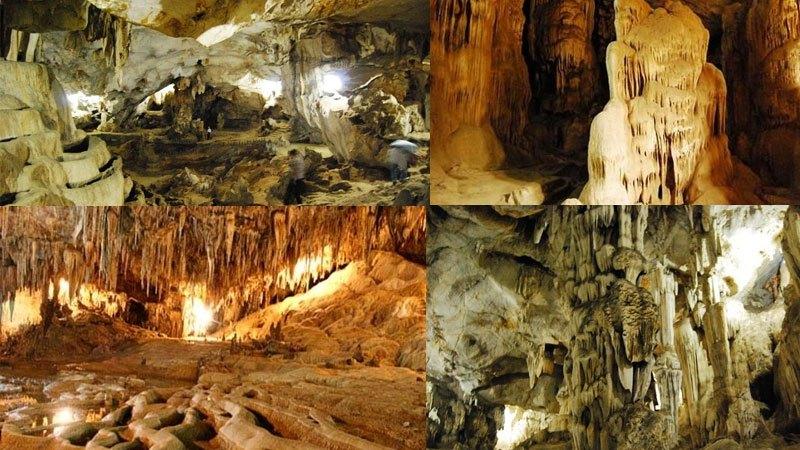 Hình thù nhũ đá kì lạ bên trong hang Dơi