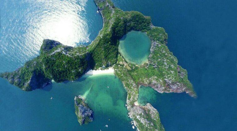 Hình dạng đặc biệt của đảo Mắt Rồng