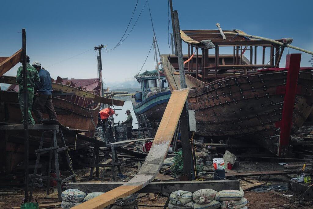 xưởng đóng tàu ở nam định