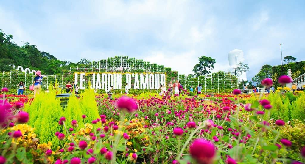 Vườn hoa Le Jardin D'Amour - địa điểm du lịch Bà Nà