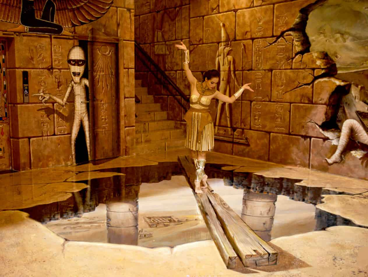 Một góc Egypt Adventure Zone của bảo tàng