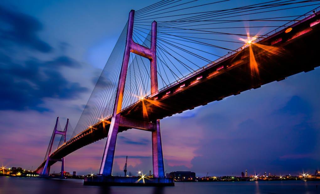 Địa điểm Cầu Phú Mỹ về đêm
