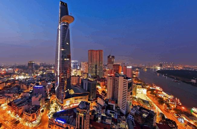 Toàn cảnh tòa nhà Bitexco từ trên cao