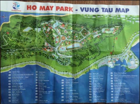 Bản đồ của Khu du lịch sinh thái Vũng Tàu này