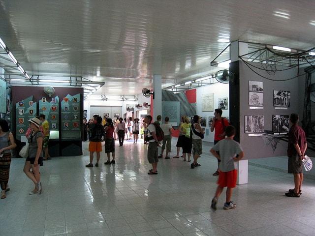 Sảnh lớn ở Bảo tàng chứng tích chiến tranh
