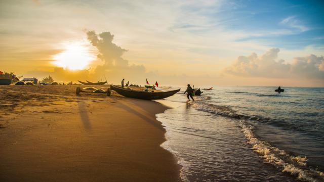 Bình minh bờ biển Bãi Dâu Vũng Tàu (Ảnh sưu tầm)