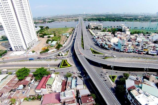 Cầu Thủ Thiêm có chiều dài 1250 m (Ảnh: ST)