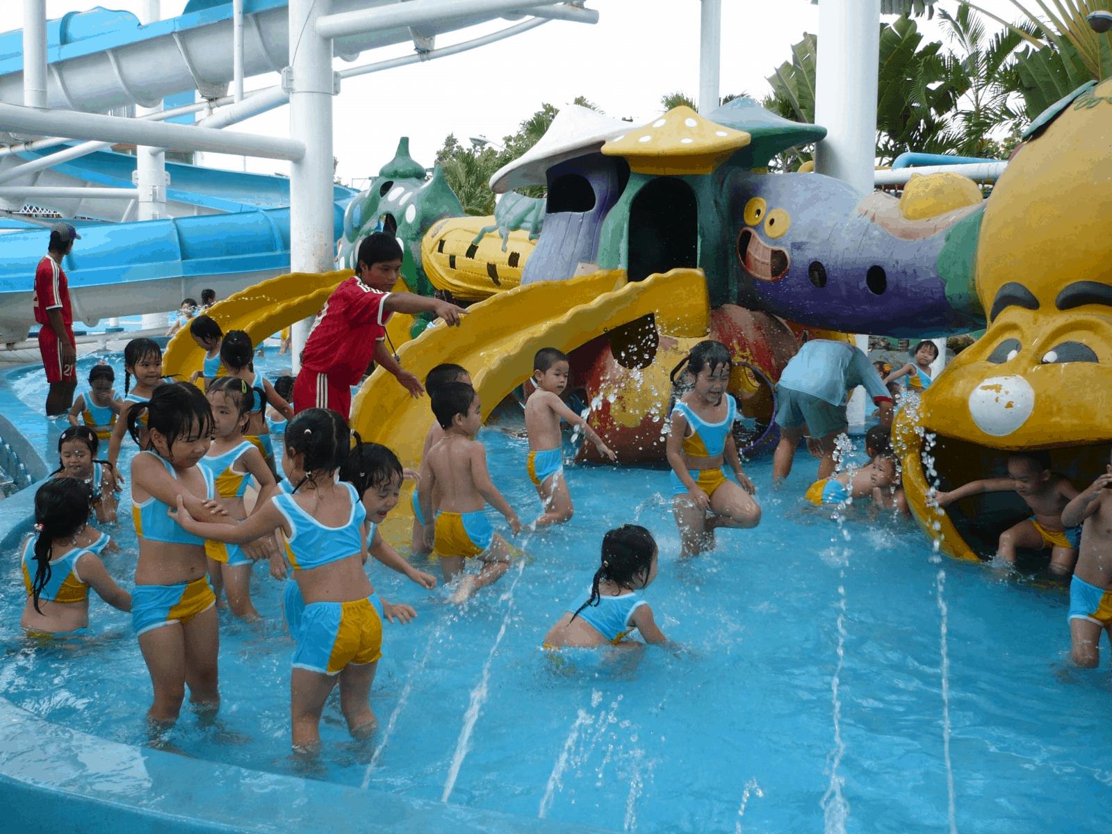Địa điểm công viên nước Đại Thế Giới Hồ Chí Minh thu hút nhiều các em nhỏ (Ảnh: Sưu tầm)