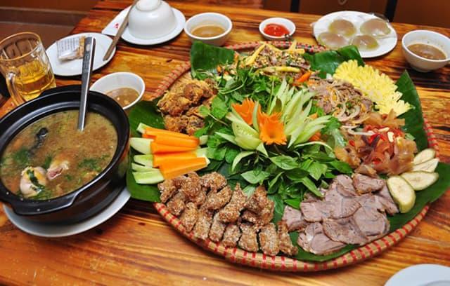 Mẹt bò bảy món núi Sam đặc sản du lịch Châu Đốc An Giang (ảnh sưu tầm)