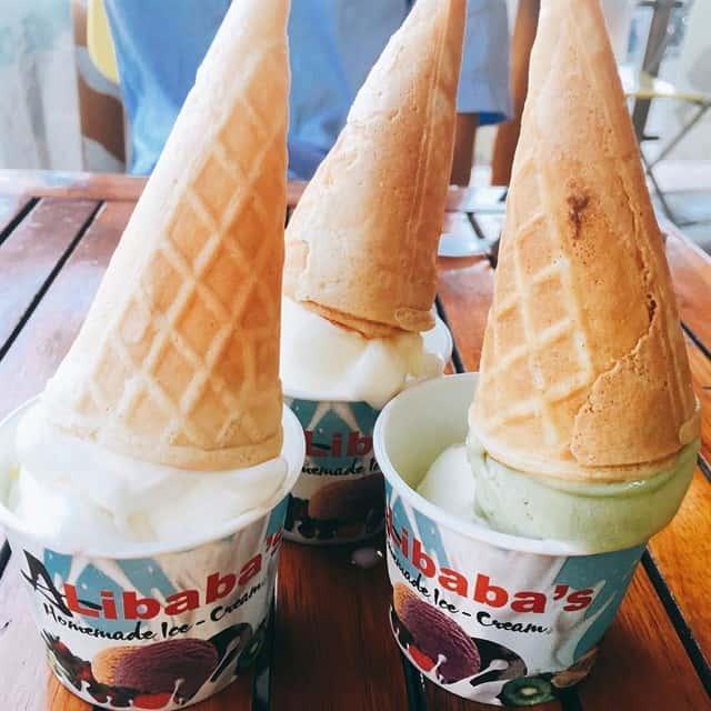Hình ảnh những ly kem Alibaba
