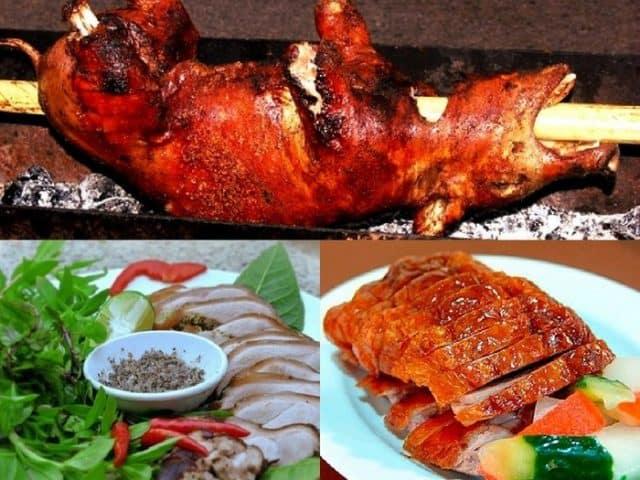 Những món ăn được chế biến từ lợn cắp nách - hồ Trại Tiểu