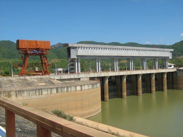 Một khoảnh khắc yên bình bên trên nhà máy thủy điện Ialy. (Ảnh ST)