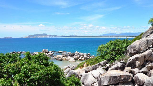 Bãi biển Trung Lương nhìn từ đường đi xuống (Ảnh: Sưu tầm)