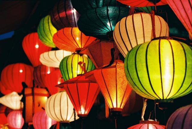 Phồ lồng đèn tại công viên văn hoá Đầm Sen