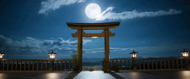 Đêm trăng tại Chùa Linh Quy Pháp Ấn