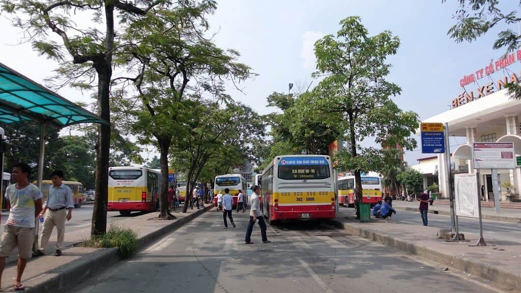 Những tuyến xe bus ở bến xe Giáp Bát