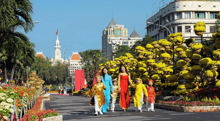 Ngày tết ở Sài Gòn (Ảnh ST)