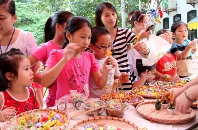Các hoạt động vui chơi trung thu cho trẻ ở Bảo tàng dân tộc học