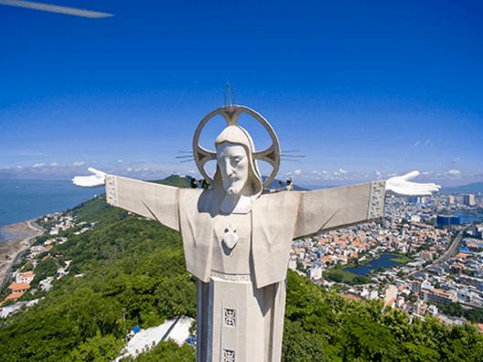 Tượng Ki Tô là một điểm đến nhiều du khách yêu thích khi tới Vũng Tàu (Ảnh ST)