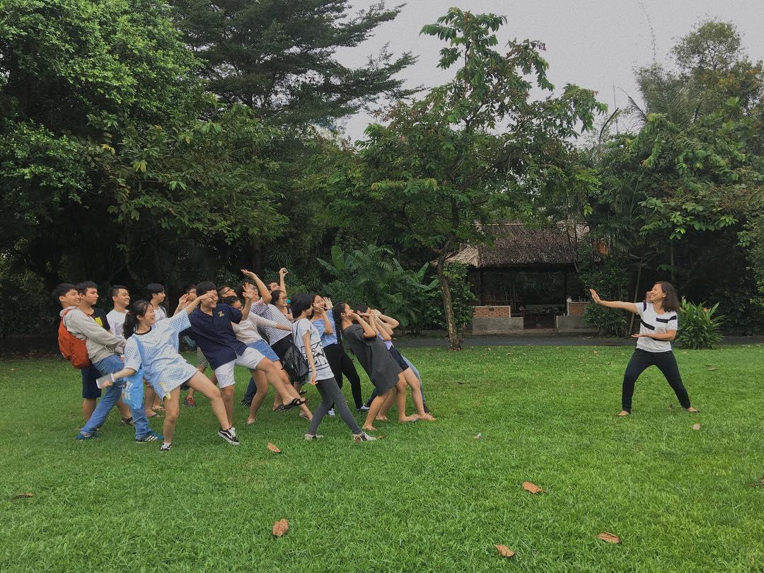 Không gian xanh phù hợp cho các hoạt động nhóm
