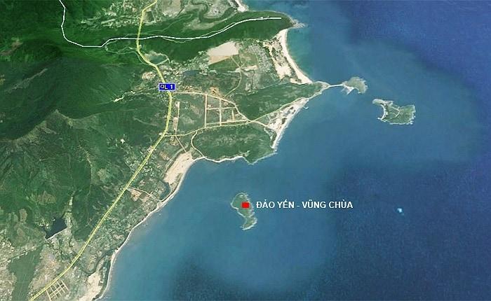 Địa thế đẹp của Vũng Chùa - Đảo Yến