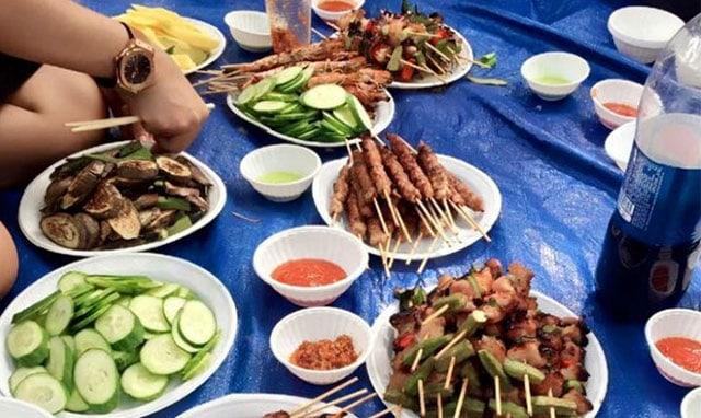 Những bữa ăn đúng chất dã ngoại