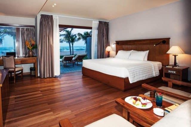 Phòng nghỉ với nội thất hoàn toàn bằng gỗ