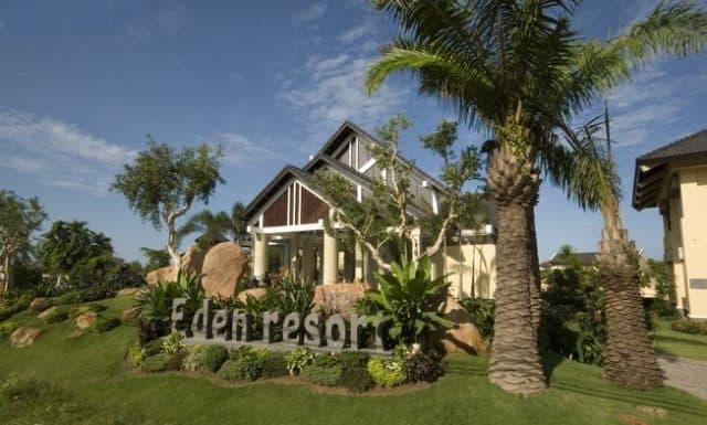Cổng vào Eden Resort Phu Quoc