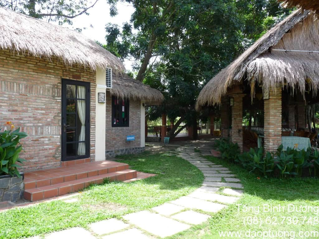 Villa H2O có phòng nghỉ kiểu nhà vườn mang đậm bản sắc dân tộc