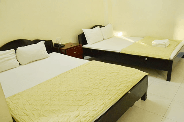 Phòng ngủ được sắp xếp gọn gàng, sạch sẽ