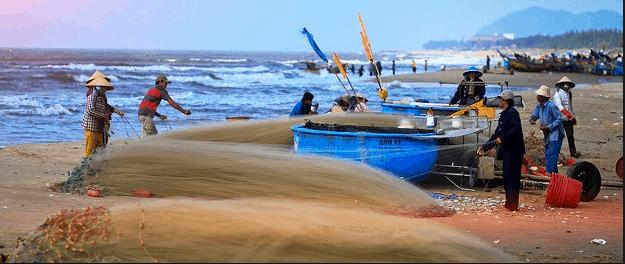 Vũng Tàu nhiều biển nên nhiều làng chài đánh bắt hải sản