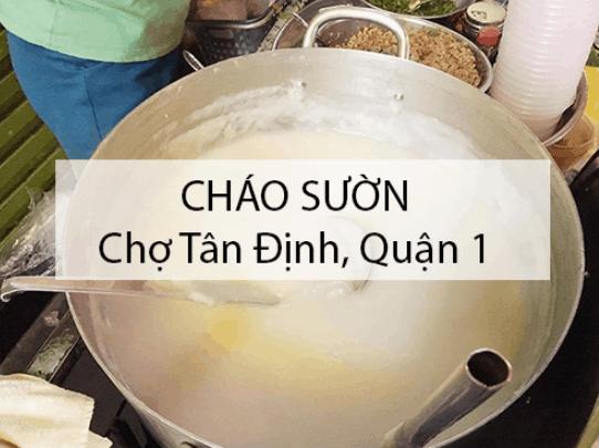 Món ăn ngon ở chợ Tân Định (Ảnh ST)