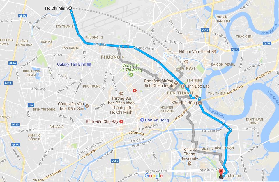 Bản đồ chỉ đường cầu Ánh Sao ở đâu