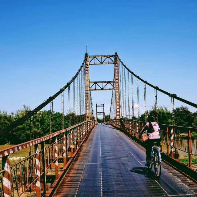 Cầu treo Kon Klor vẫn mang một vẻ đẹp mộc mạc, giản dị (Ảnh ST)