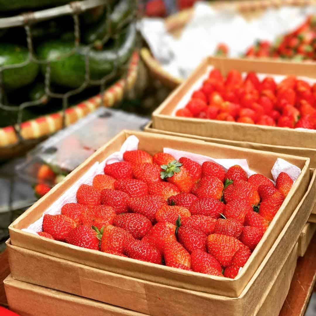 Rau củ quả tại chợ Đà Lạt