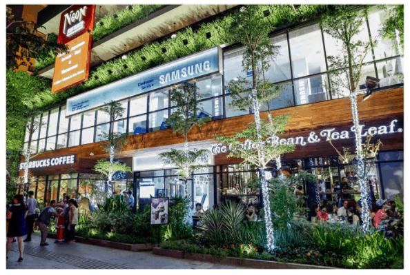 Hình ảnh khu phố sang trảnh tại Sài Gòn Garden