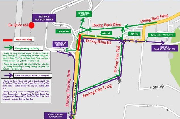 Hình ảnh nút giao thông đường Trường Sơn