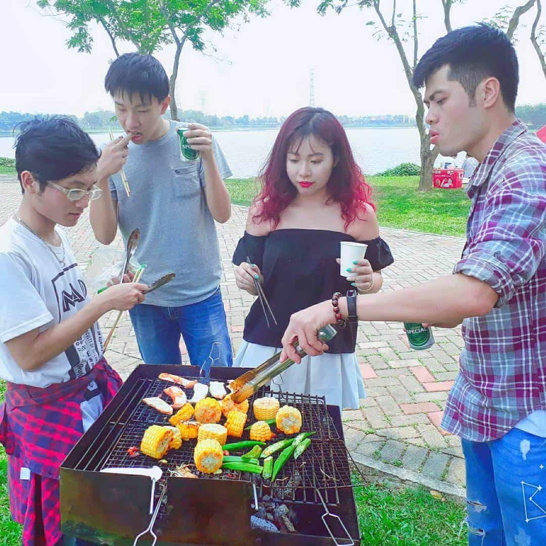 Kinh nghiệm cắm trại công viên Yên Sở