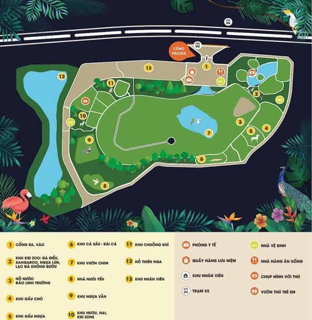 Đừng quên cầm theo bản đồ khi khám phá công viên Zoo Safari nhé