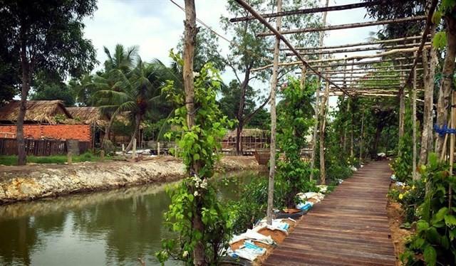 Những mảnh vườn xanh làm xao xuyến khách tham quan