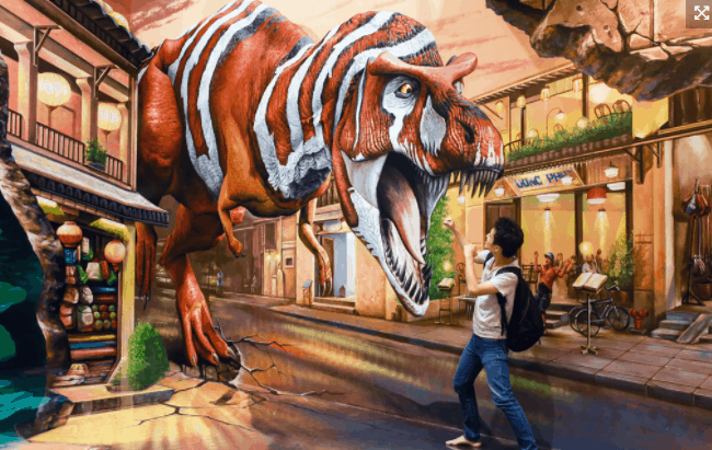 Tái hiện khung cảnh khủng long sinh động